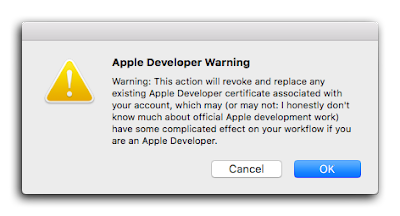 Apple Developer warning