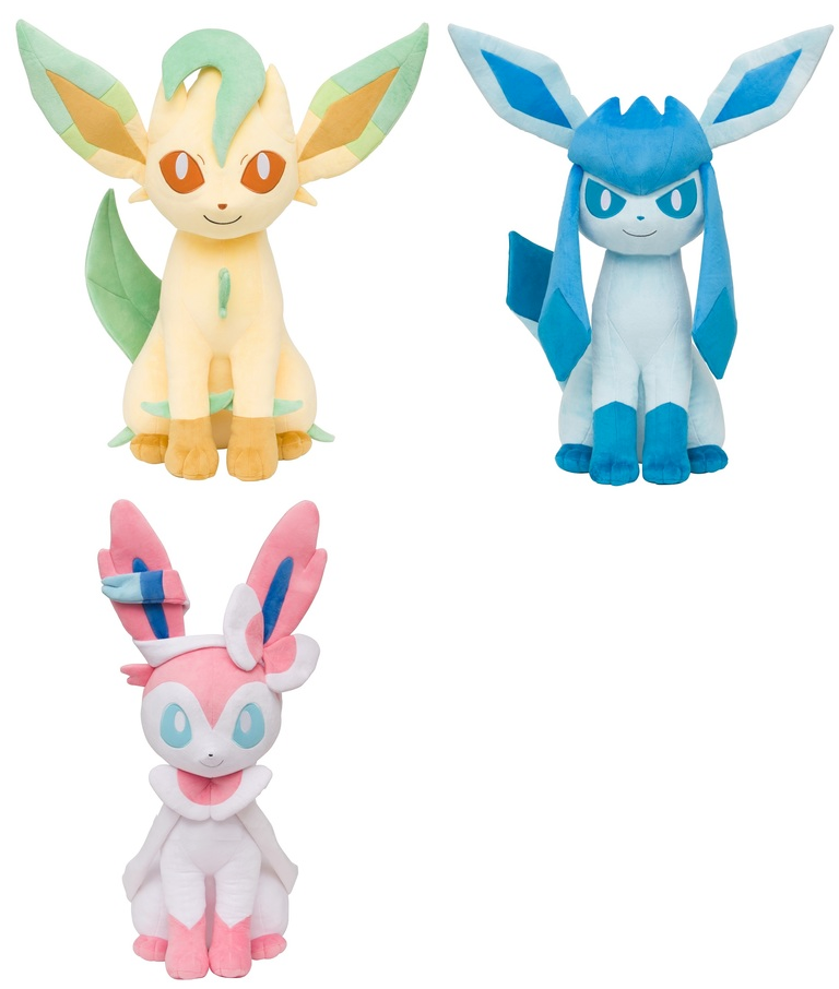 The Pokemon Center Has Announced New Life Size Eeveelution Plushies They Will Be Sold Exclusively Through JP Store