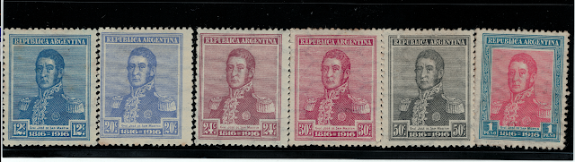 Argentinian stamps issued in 1916 issued commemorating the Centennial of Independence
