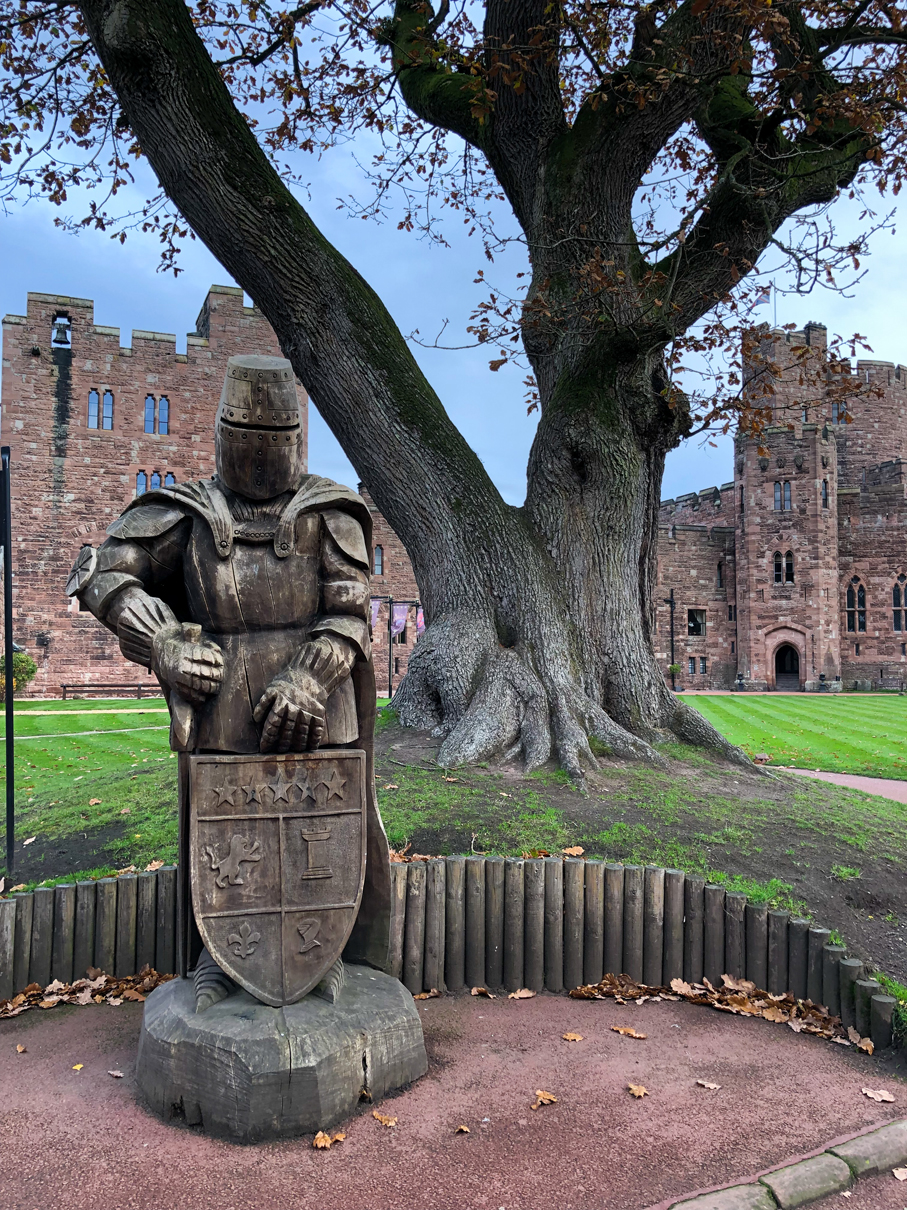 Wooden Knight at Peckforton Castle