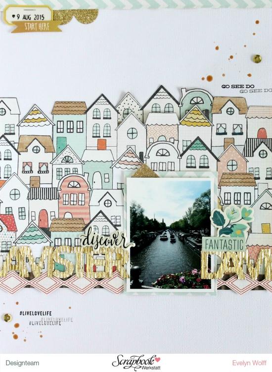 Discover Amsterdam | Scrapbooking Layout von EvelynLaFleur | Wonder Kollektion - Crate Paper