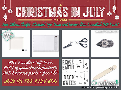 Stampin' Up! Promotion Christmas In July offers more craft supplies when you join Mitosu Crafts' Stampin' Up! team for only £99