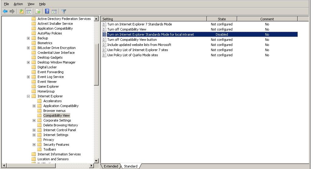 Another Windows Blog - Matt Forchette: IE Compatibility View