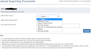 Step 4: Upload the Supporting Documents in online for Passport image