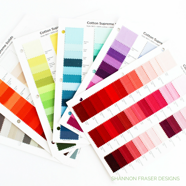 RJR Fabrics Cotton Supreme Color Cards | What Shade Are You? | Shannon Fraser Designs | Quilting Cotton | Solids Quilt | Modern Quilting | Color