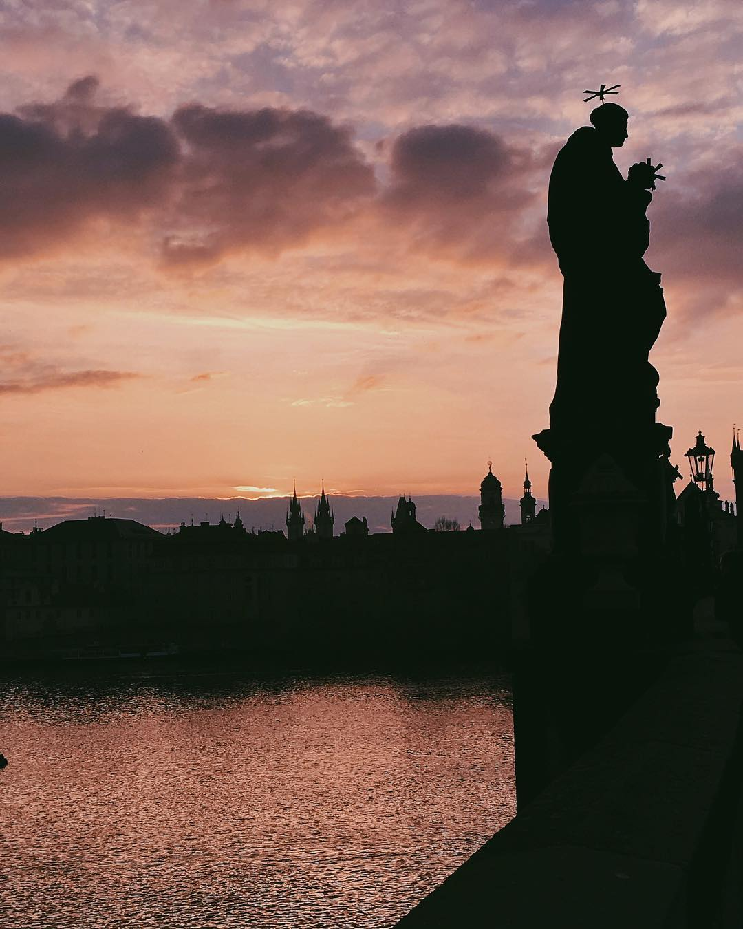 View from Charles Bridge at Sunrise, Prague