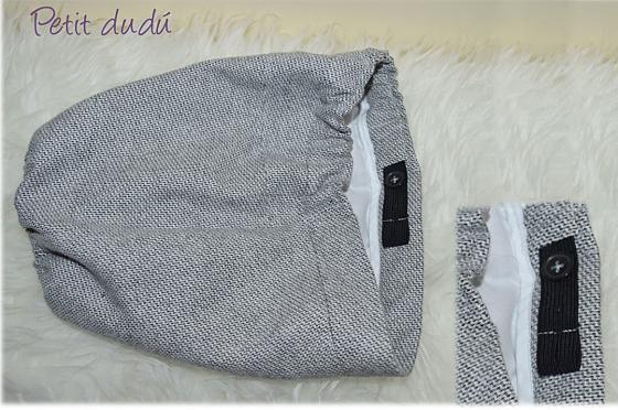 Pantalón Bombacho Tela de Paño Petitdudu