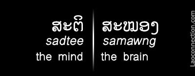 Lao Words of the Day:  The Mind and The Brain - written in Lao and English