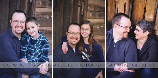 family photo session at Fowler Park