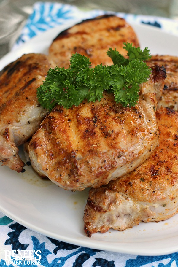 Juicy Grilled Boneless Pork Chops