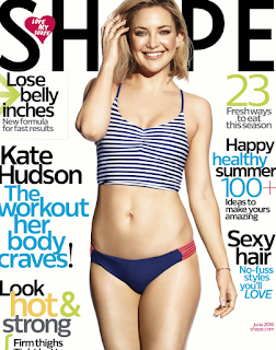 Kate Hudson covers Shape magazine. Talks about staying in shape and loving her body. Details at JasonSantoro.com