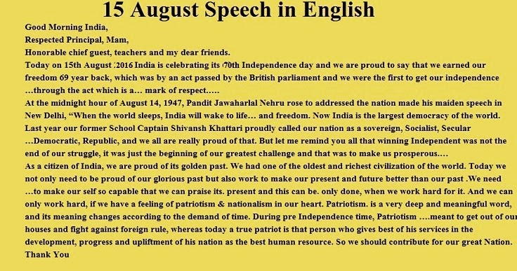 august essay independence day speech bhashan in hindi for