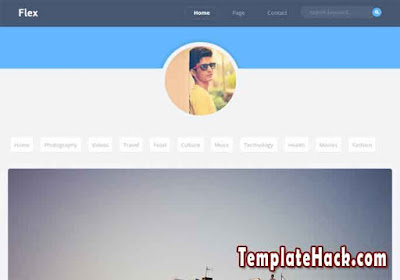 flex blogger template