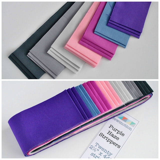 http://www.sewmotion.com/sewmotion_shop/prod_4535334-Quilters-Precut-Strip-Set-Purple-Haze-Kona-Solids.html