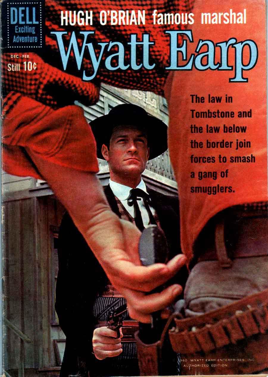 Wyatt Earp v2 #13 - dell western 1960s silver age comic book cover art