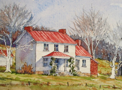 Everyday Artist Step By Step Watercolor Winter Farm Scene