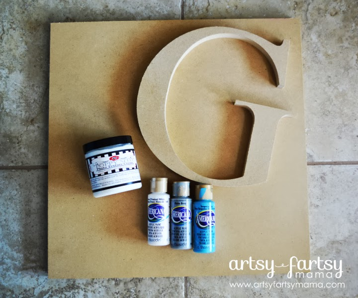 DIY Monogram Sign Supplies