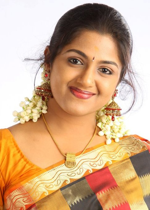 Anjana Haridas Hot Navel Show Photos In Yellow Saree