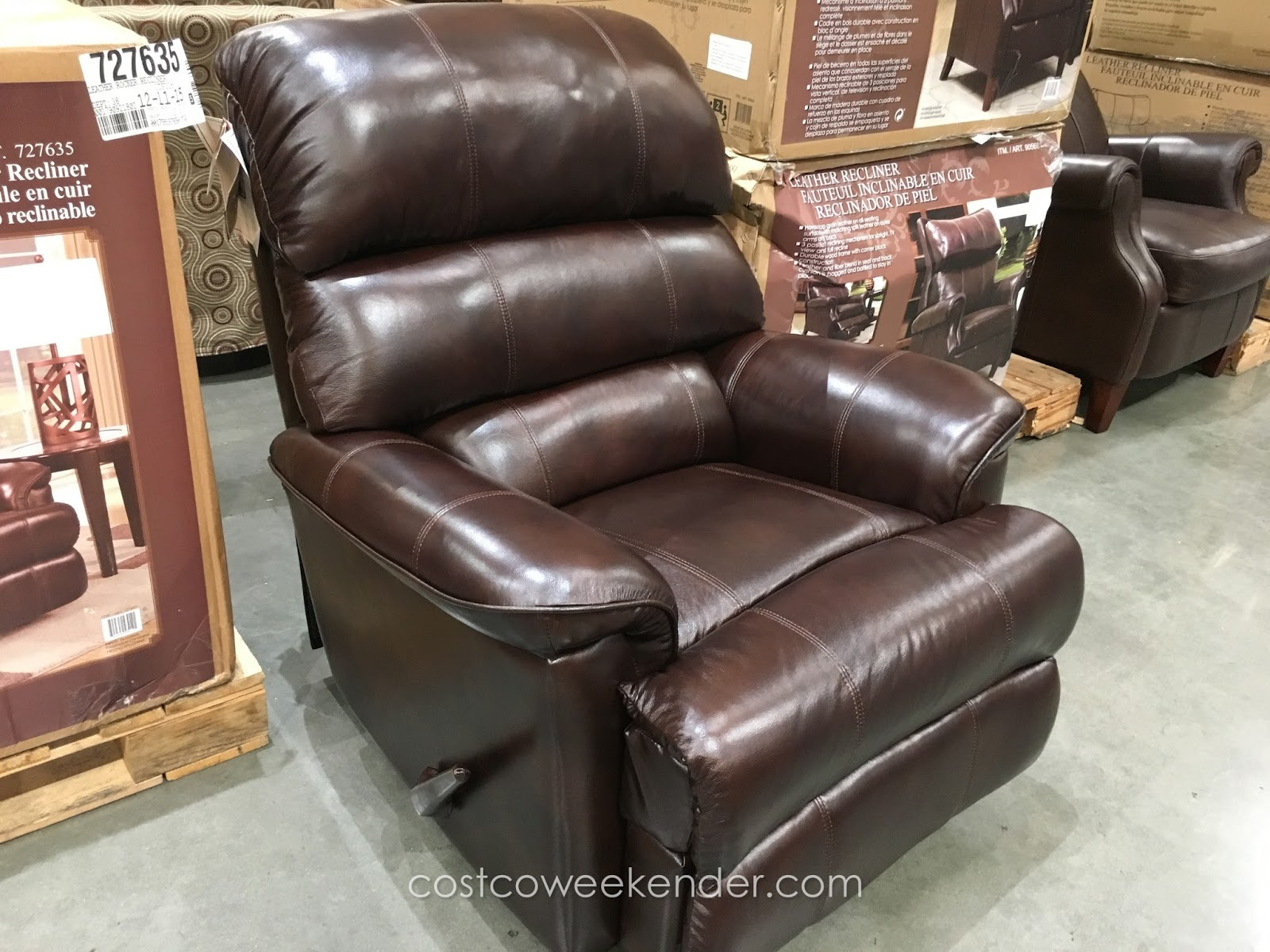 costco leather chairs best chair recliner barcalounger rocker weekender