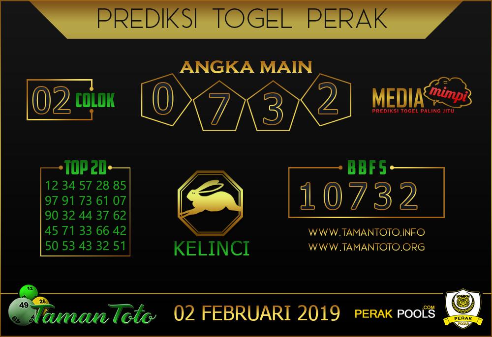 Prediksi Togel PERAK TAMAN TOTO 02 FEBRUARI 2019