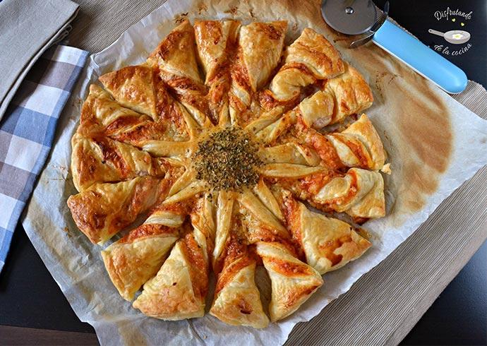 Estrella de pizza (Receta fácil)