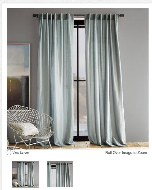 the happy homebodies west elm curtain bargain. Black Bedroom Furniture Sets. Home Design Ideas
