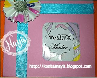 tutorial paso a paso mini tarjetas para el  dia de la madre
