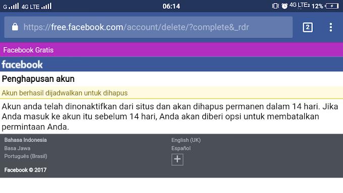 Alasan gue menghapus Akun  Facebook