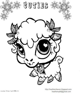 Creative Cuties: Lamb coloing page
