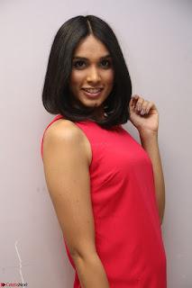 Spatika Surapaneni in Red Tight Dress at FBB Miss India 2017 finalists at Telangana auditions Feb 2017 (58).JPG