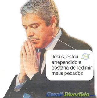 José Sócrates primeiro ministro rezar divertido email portugal