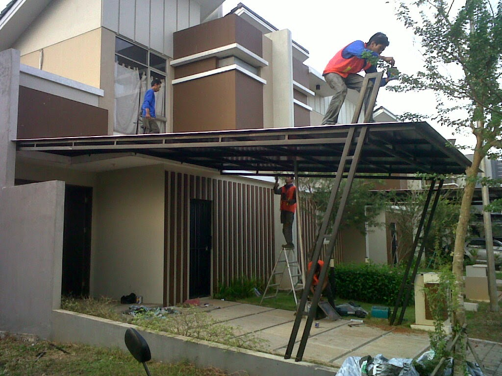 Kanopi Gantung Baja Ringan Gambar   Desain Rumah