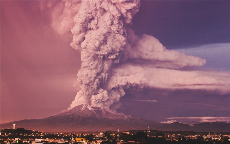 Volcanic eruption in these photos in HD 3