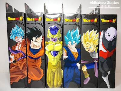 Review de las Dragon Stars Series vol.5 y 6; Jiren, SS Cabba, SSBlue Vegetto, Golden Frieza, Mystic Gohan, SSBlue Son G y SS Berserker Kale de Dragon Ball Super - Bandai