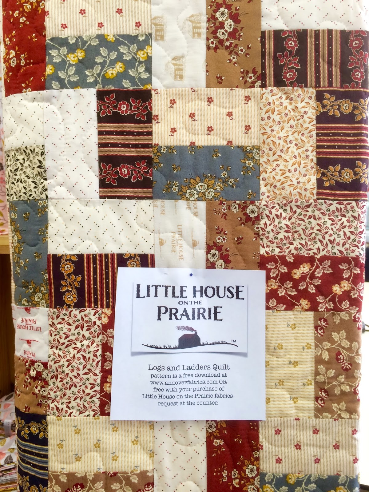 the Bear Blog: Little House on the Prairie from Andover Fabrics : prairie quilts - Adamdwight.com