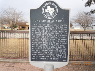 crash at crush texas historical marker