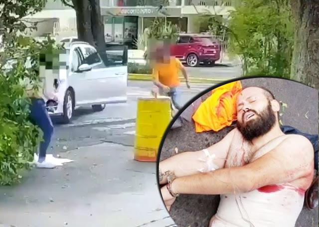 VIDEO.- Hombre atropella a su Mujer, baja del coche y ya herida la mata a cuchillazos ,escolta de fiscal que se encontraba ahí en ese momento lo mata a balazos