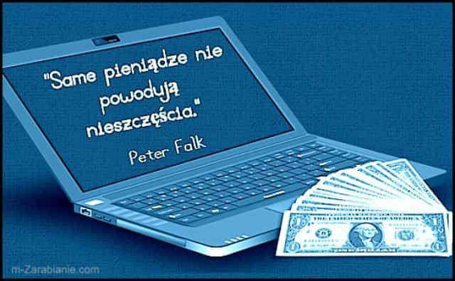 Peter Falk, cytaty o pieniądzach i szczęściu.