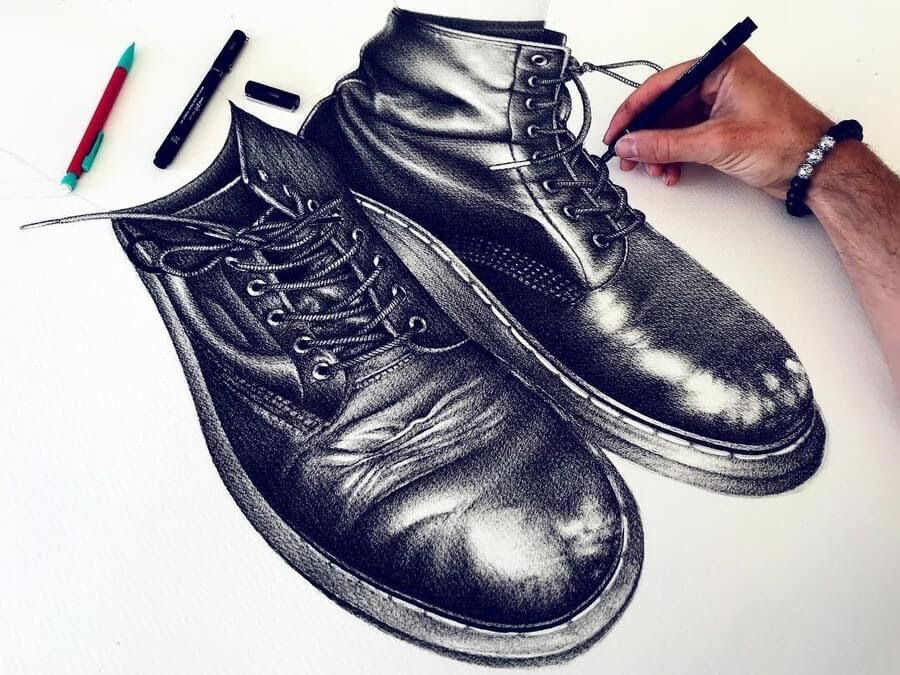 03-Caitlyn-Shoes-Jeremy-Lane-Realistic-Drawings-www-designstack-co