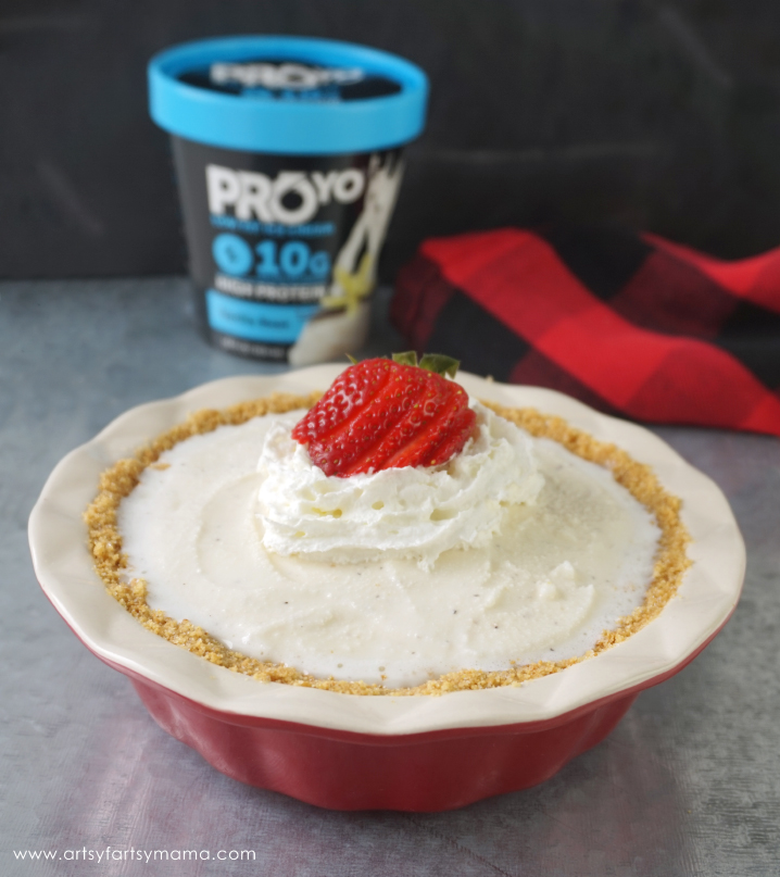 Easy 4-Ingredient Vanilla Bean Ice Cream Pie recipe the whole family will love!