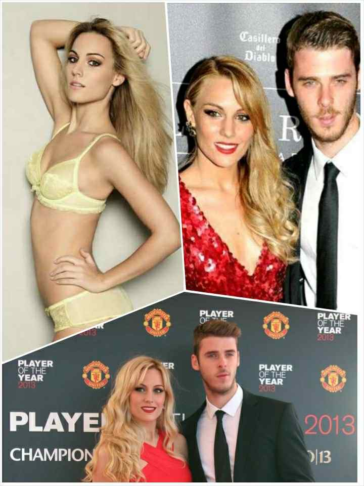 Edurné Garcia and David Degea