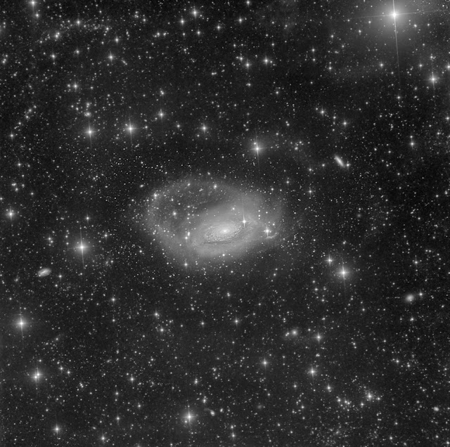 Monochrome Luminance image of Messier 63, The Sunflower Galaxy - 6 hours of data from ATEO-1 processed by Utkarsh Mishra.