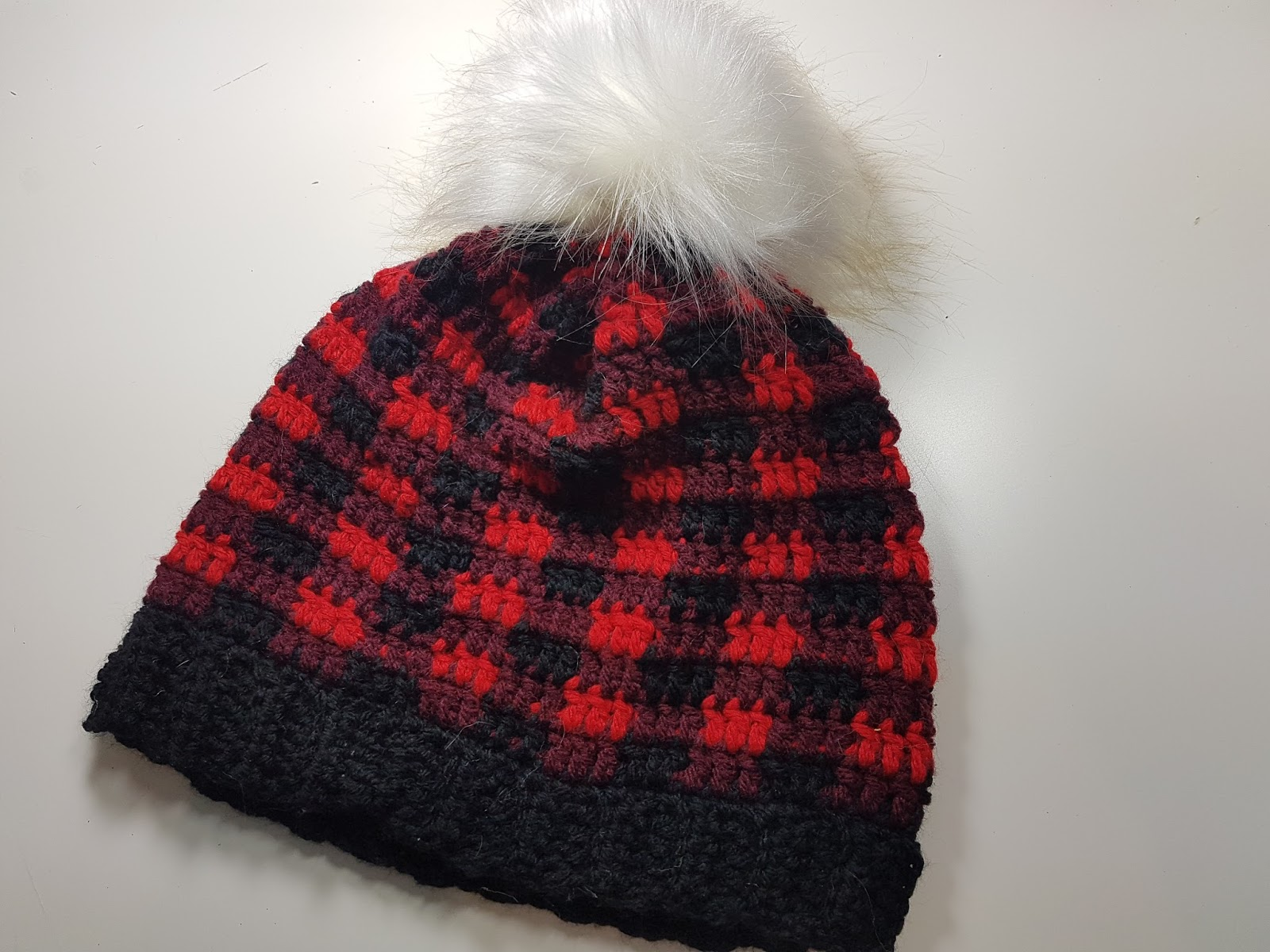 Free Pattern - Plaid slouchy hat - Adult Size - Charmed By Ashley f37e86aed05
