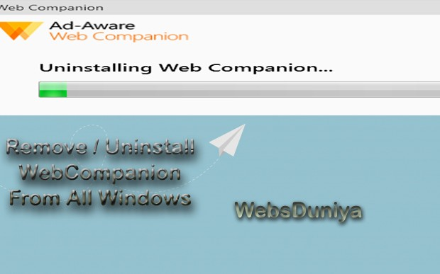 how to remove web companion