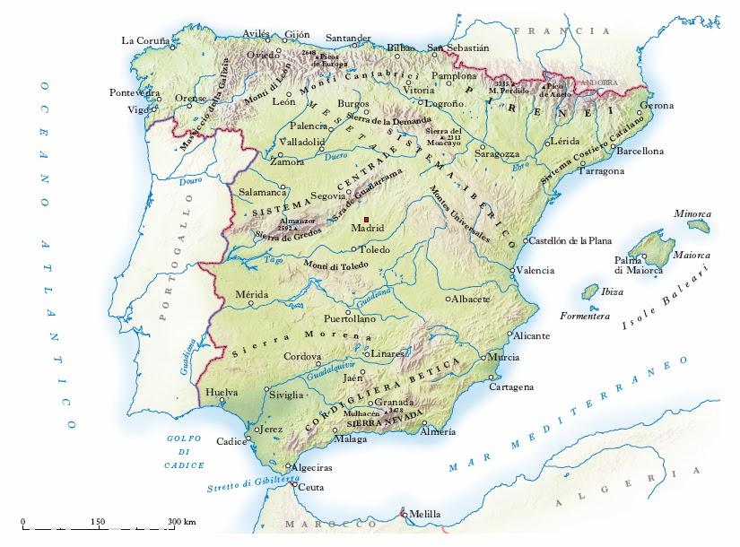 Seconda B Don Minzoni 20182019 Geografia Carte Della Spagna