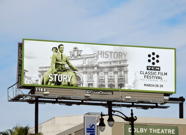 Roman Holiday TCM Classic Film Festival billboard 2015