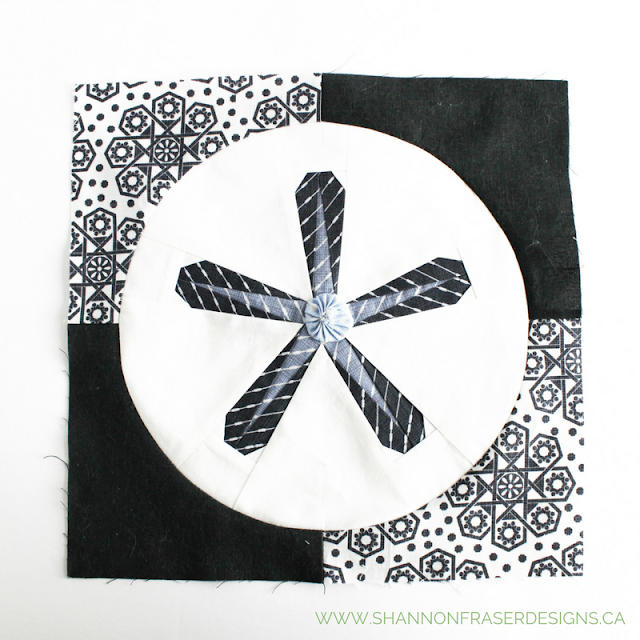 Sand Dollar Star | January Quilter's Planner Blocks | Shannon Fraser Designs | Modern Quilting | Free Quilting Block Patterns