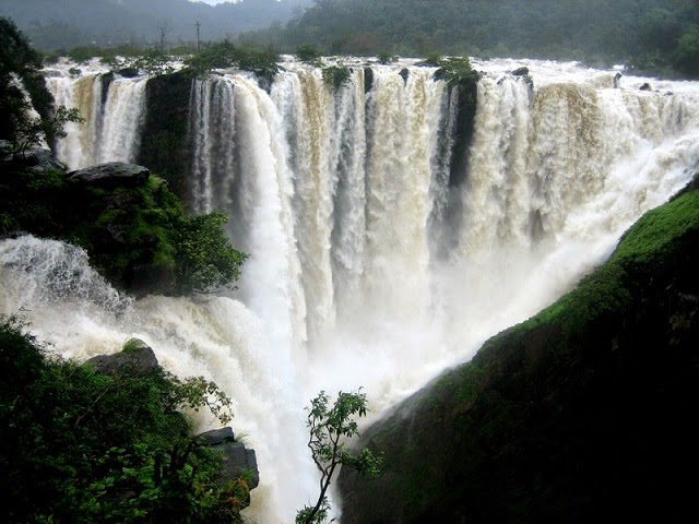 Jog Falls- Gushes in Color White