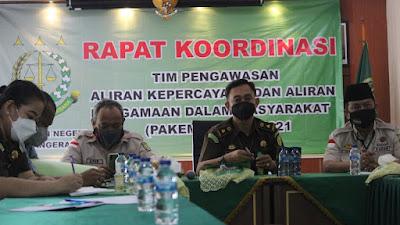 Cegah Radikalisme dan Aliran Kepercayaan, Kajari Kota Tangerang Ketua Tim PAKEM Gelar Rapat Koordinasi