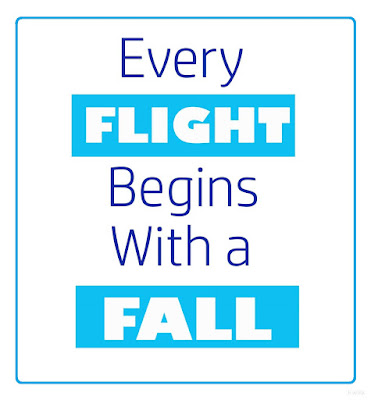 Every flight begins with a fall | Kwikk quotes